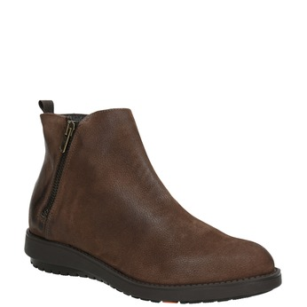 Leather ankle boots with zip flexible, brown , 594-4227 - 13