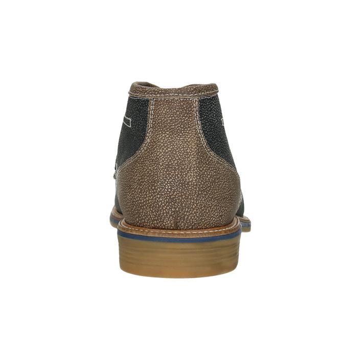 Men's leather ankle boots bata, blue , 826-9920 - 16