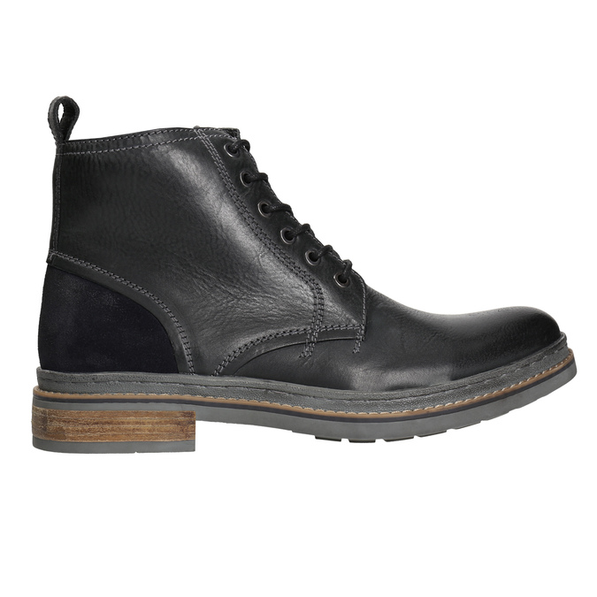 Leather Winter Ankle Boots bata, black , 896-6685 - 15