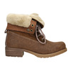 Ankle Boots with Fleece bata, brown , 591-4618 - 15