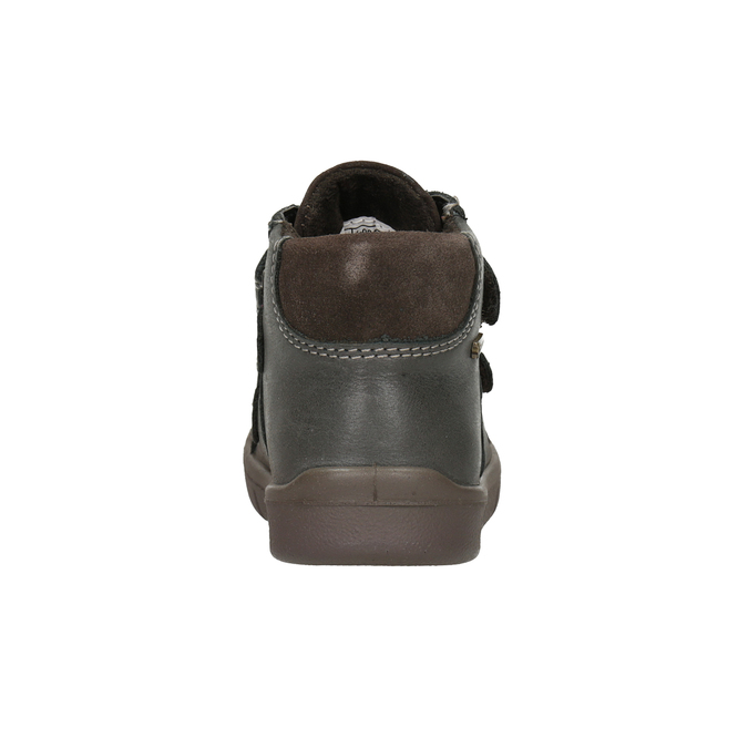 Children's leather ankle boots, brown , 114-4028 - 16