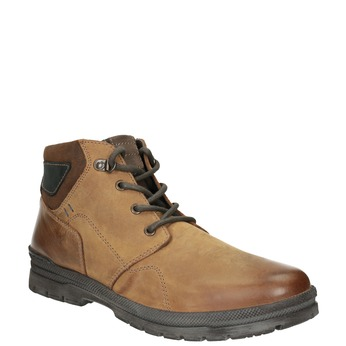 Men's Leather Winter Boots bata, brown , 896-3681 - 13