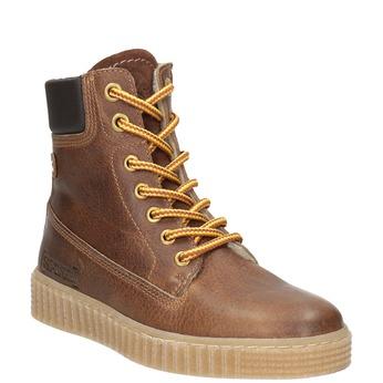 Children's Brown Winter Boots mini-b, brown , 496-4620 - 13