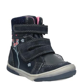 Children's leather winter boots bubblegummer, blue , 124-9602 - 13