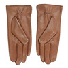 Brown leather gloves bata, brown , 904-3129 - 16
