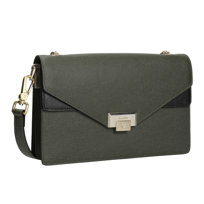 Ladies' leather clutch picard, green, 964-7097 - 13
