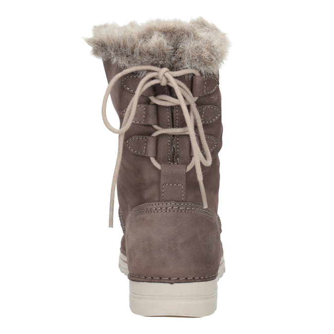 Ladies' winter boots with artificial fur weinbrenner, brown , 596-4334 - 16