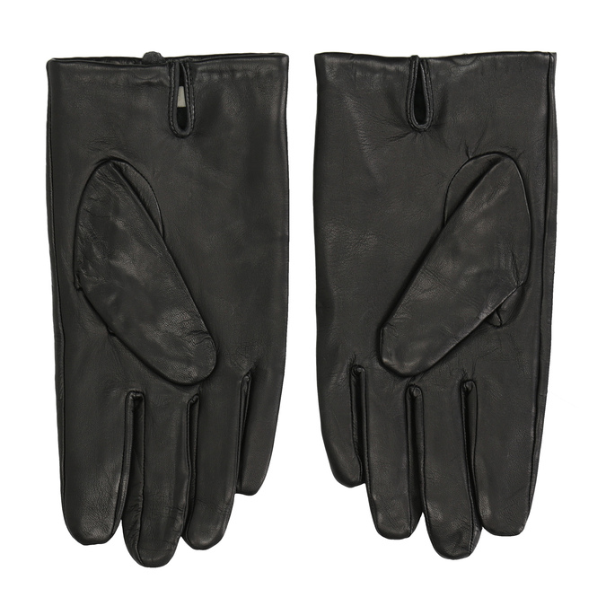 Black leather gloves bata, black , 904-6130 - 16