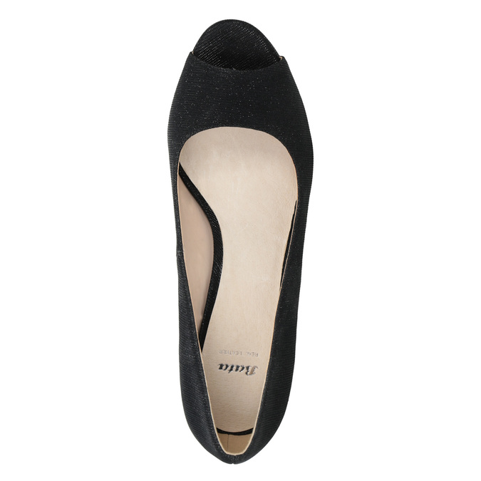 Peep-Toe Pumps bata, black , 729-6610 - 15