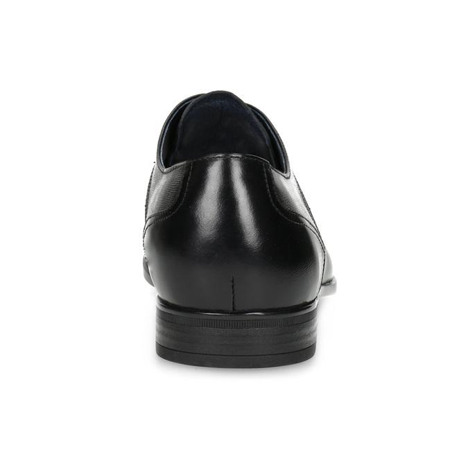 Men's leather shoes bata, black , 824-6758 - 15