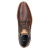 Men's leather ankle boots bata, brown , 826-3926 - 15