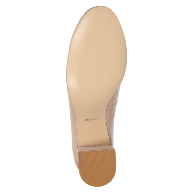 Pinkish cream-colored pumps on a low heel bata, pink , 624-8644 - 17