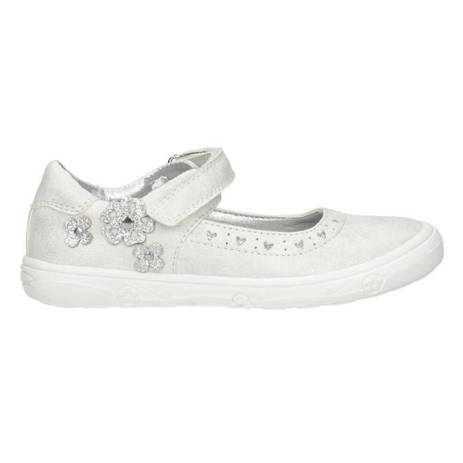 Kids' ballerinas with glitter mini-b, silver , 221-1216 - 26