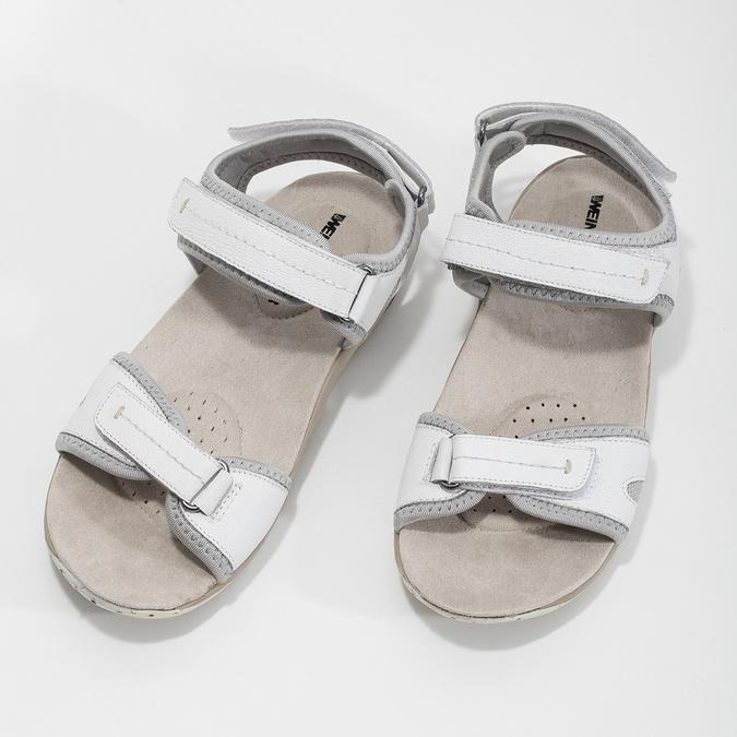 Ladies' leather sandals weinbrenner, white , 566-1608 - 16