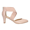 Pinkish cream-colored leather pumps insolia, pink , 624-8643 - 26