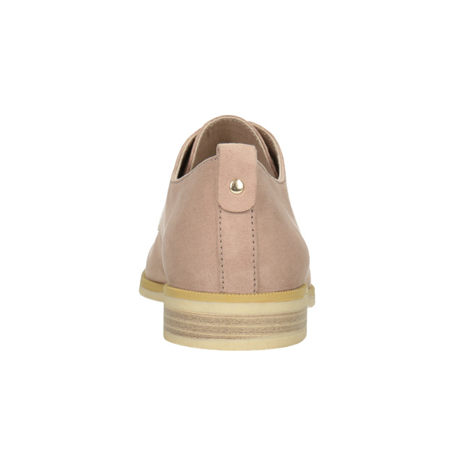 Ladies' casual leather shoes bata, pink , 529-5636 - 16