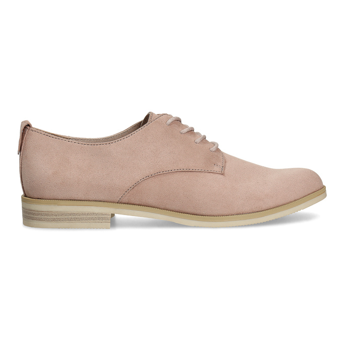 Ladies' casual leather shoes bata, pink , 529-5636 - 19