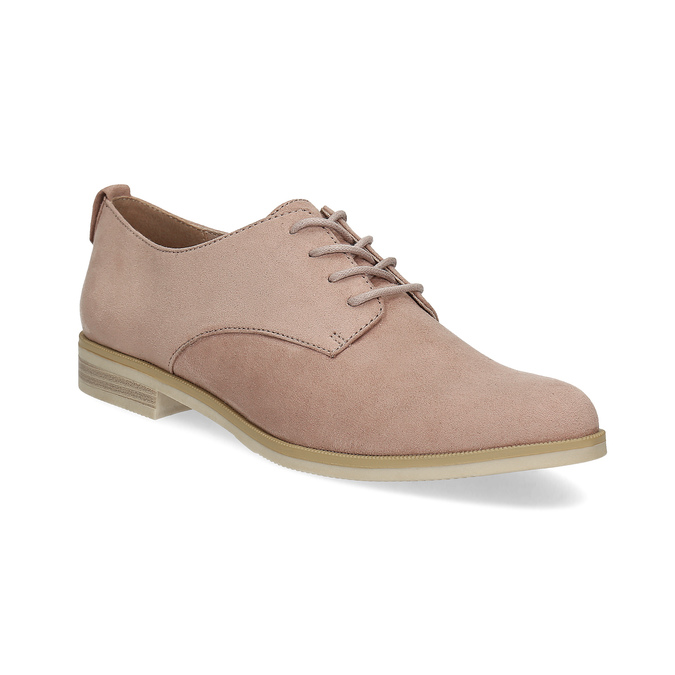 Ladies' casual leather shoes bata, pink , 529-5636 - 13