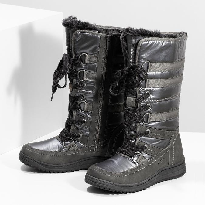 Ladies' winter snow boots bata, gray , 599-2619 - 16