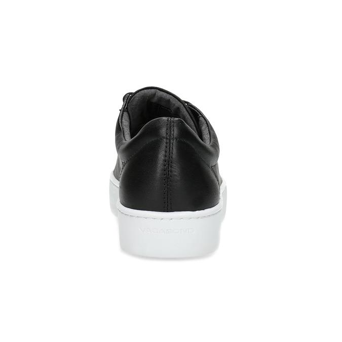 Black leather sneakers vagabond, black , 624-6014 - 15
